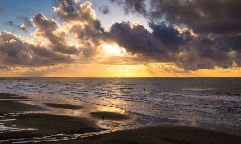 Sunset over the Pacific Ocean in Newport