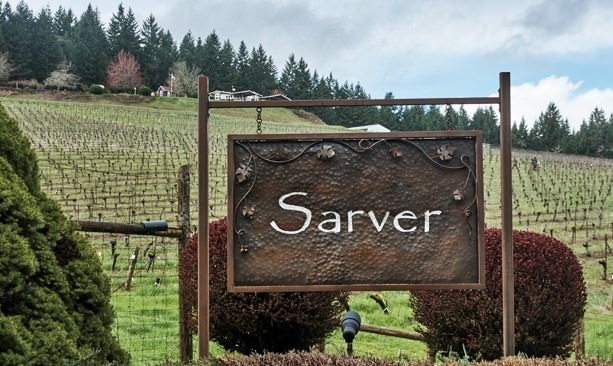 Entrance to Sarver Winery