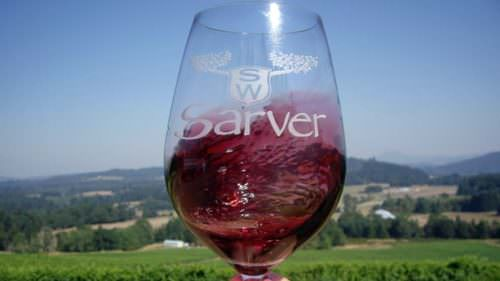 Swirl a glass of lucious red at Sarver Winery, then stick around for the tasty food pairings. (Photo credit: Eugene, Cascades & Coast)