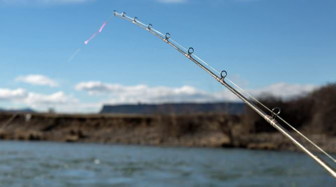 Fishing rod over the Rogue River