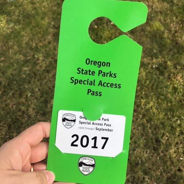 Green 2017 Oregon State Parks Special Access Pass