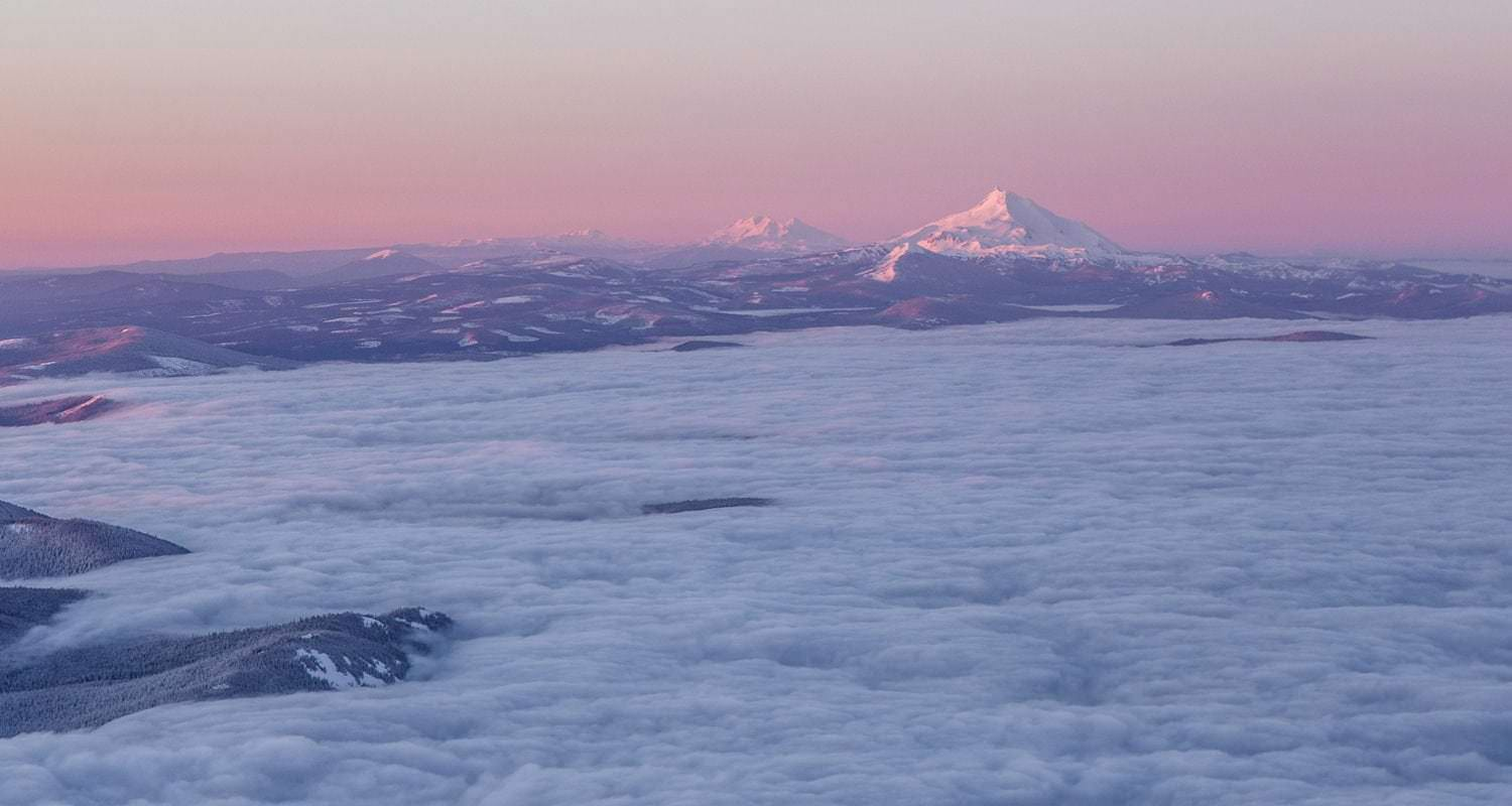 Sunrise view from Mt. Hood