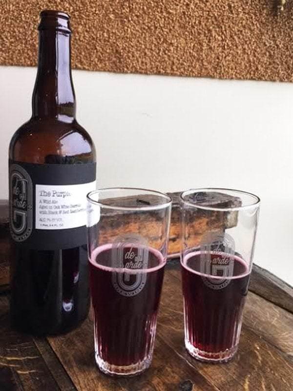 de Garde Brewing's Purple in two glasses