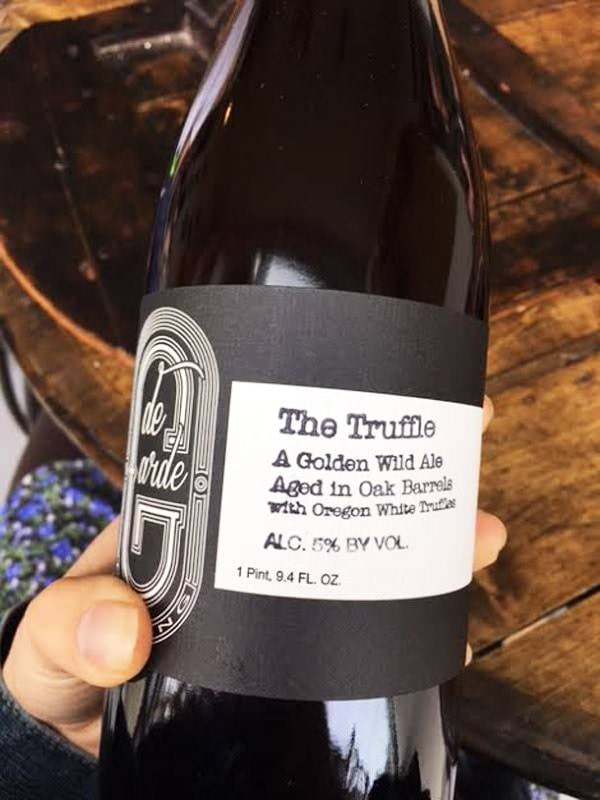 Label on de Garde Brewing's The Truffle golden wild ale