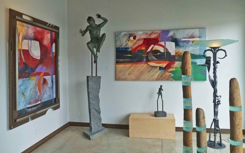 Artwork inside the Hawthorne Gallery