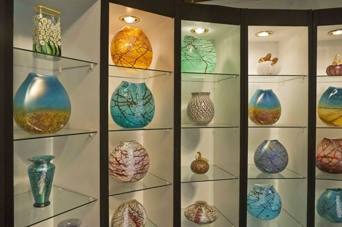 Vases at Vines Art Glass