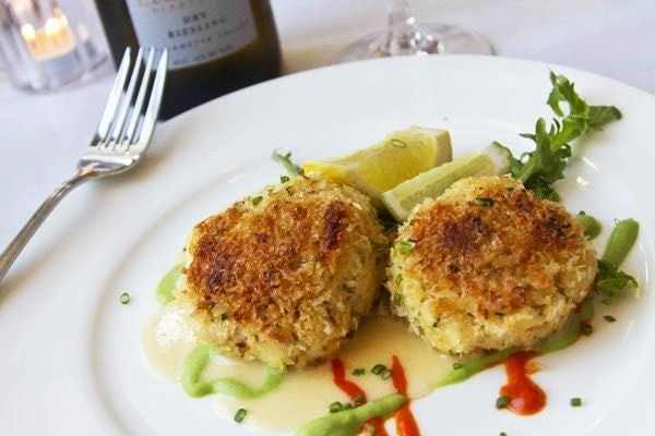 Crab cakes at Alloro Wine Bar and Restaurant
