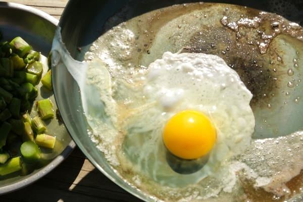 Eggs in Northwest Skillet pan
