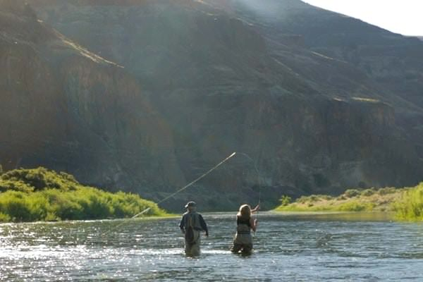 Fly fishing at Cottonwood Canyon State Park