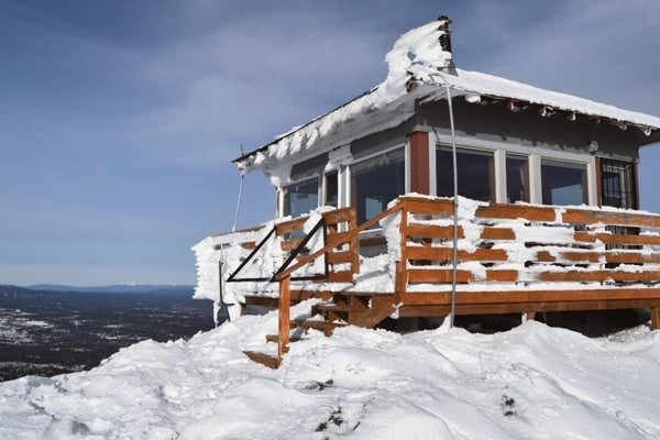 Hager lookout covered in snow