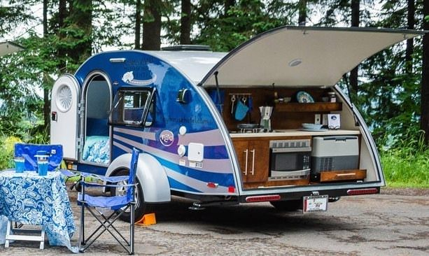 Teardrop trail rental at campground