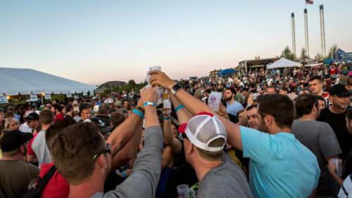 Group cheers at Bend Brewfest