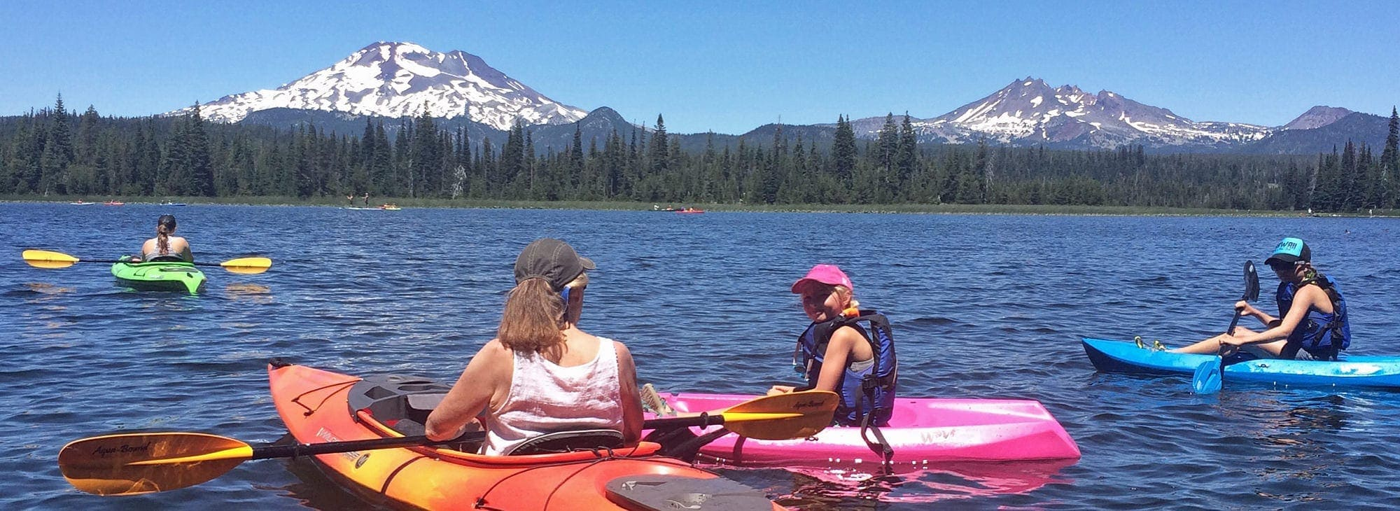 Hosmer Lake near the Cascade Lakes Scenic Byway