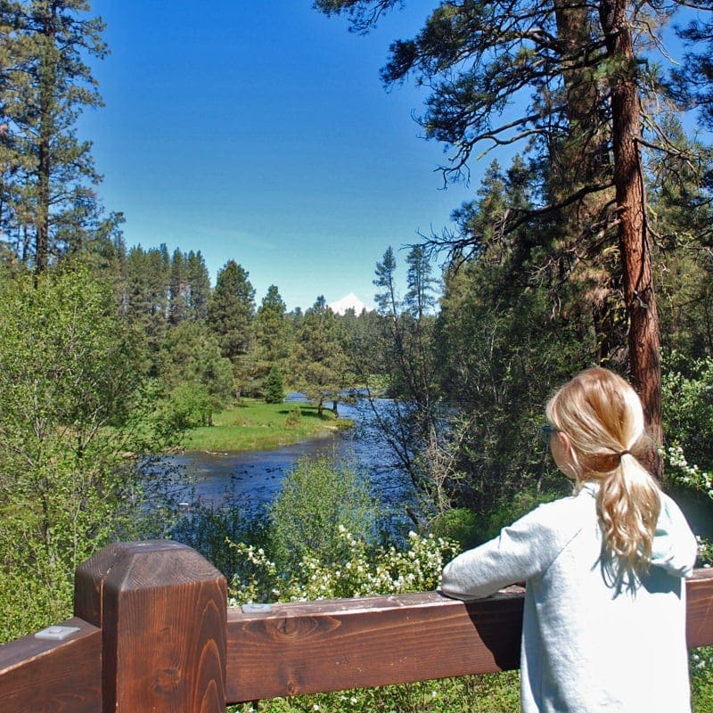 Girl looking out to Metolius River