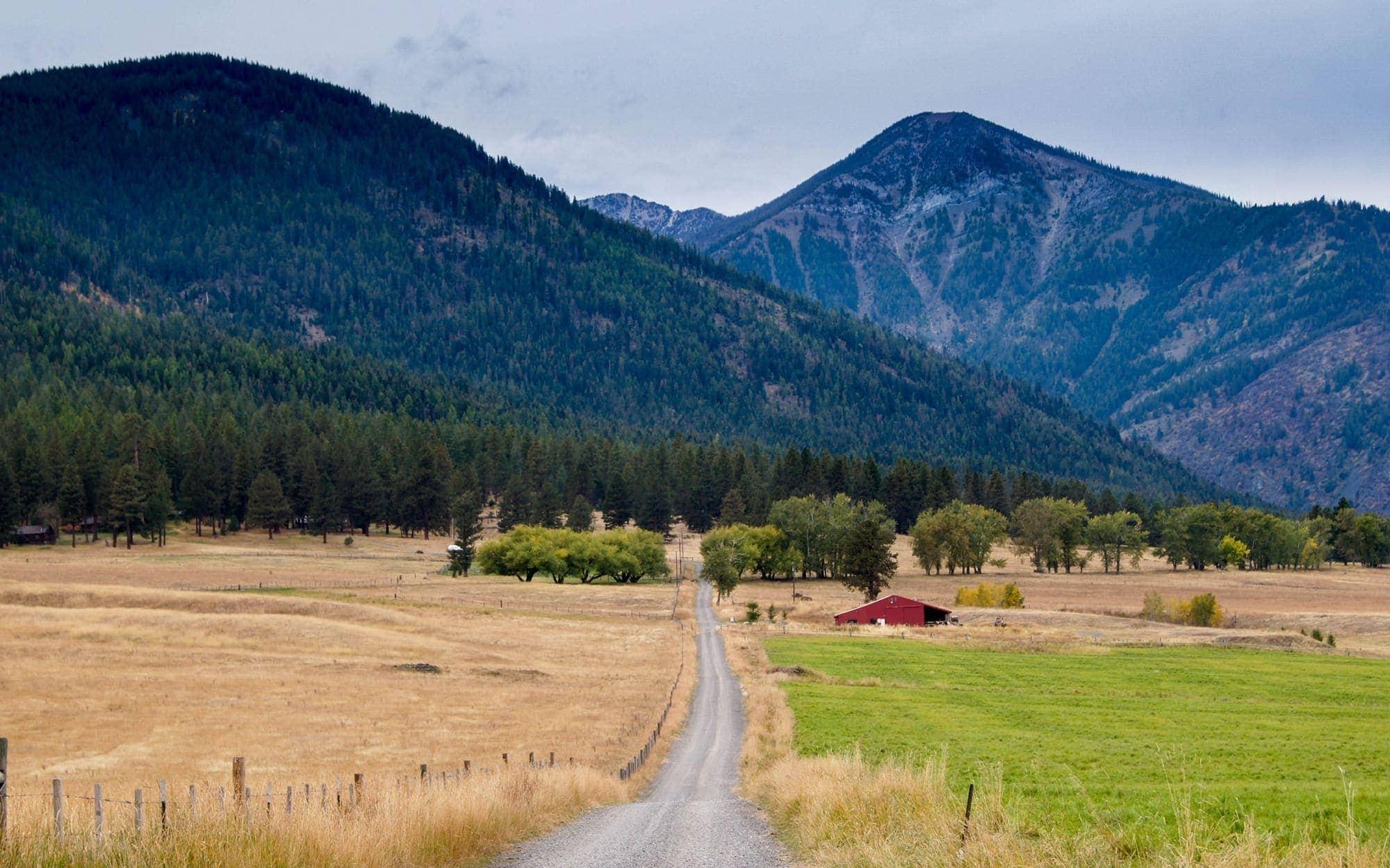Outskirts of Joseph near the Wallowa Mountains