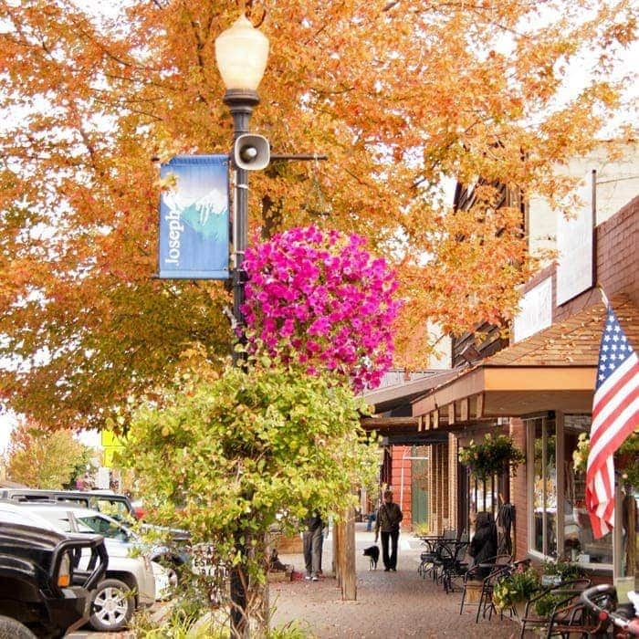 Downtown Joseph in autumn