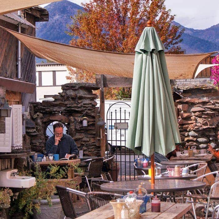 Patio at Old Town Cafe in Joseph