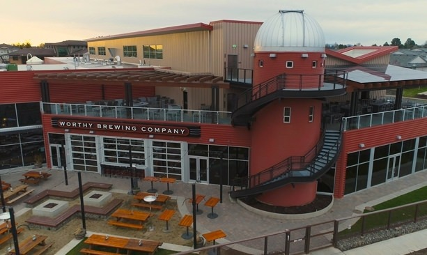 Exterior of Worthy Brewing and its new Hopservatory