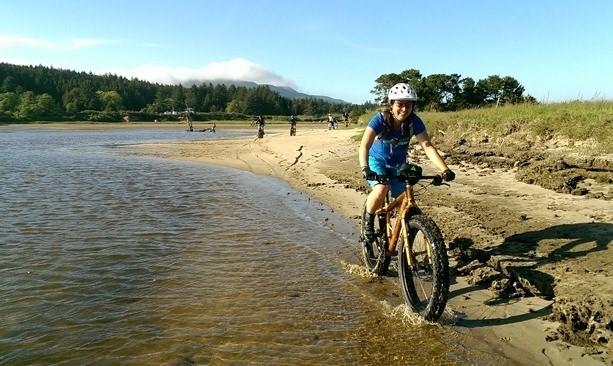 Fatbike cyclist near Tillamook