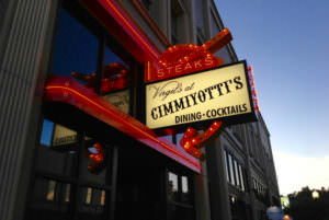 Sign outside of Cimmiyotti's
