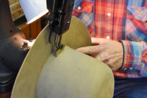 Hat being made at Montana Peaks Hat Company