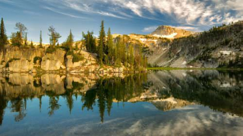 Mirror Lake, via Two Pan Trailhead, by Dennis Frates