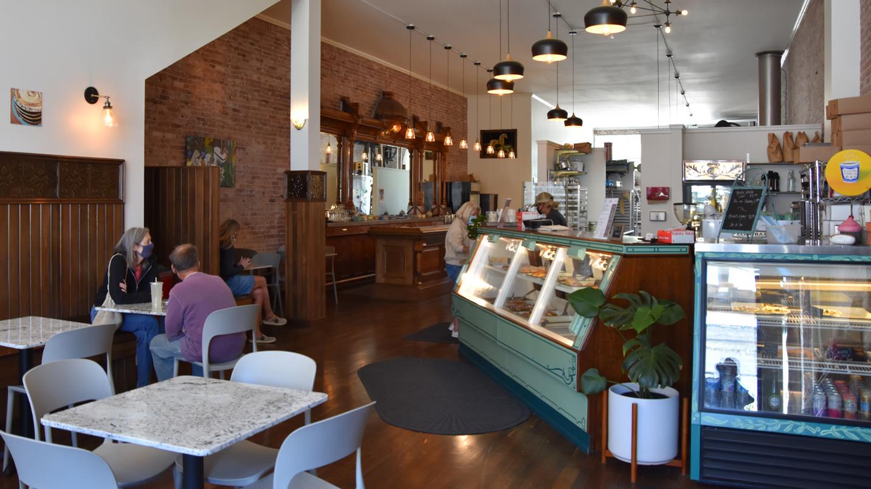 Brick interior bakery