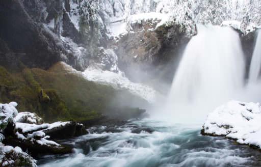 Sahalie Falls by Skyler Hughes