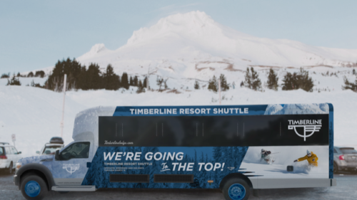 The Timberline Resort Shuttle.