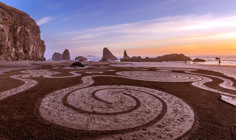 Circles In The Sand Courtesy Of Oregon Coast Visitors Ociation