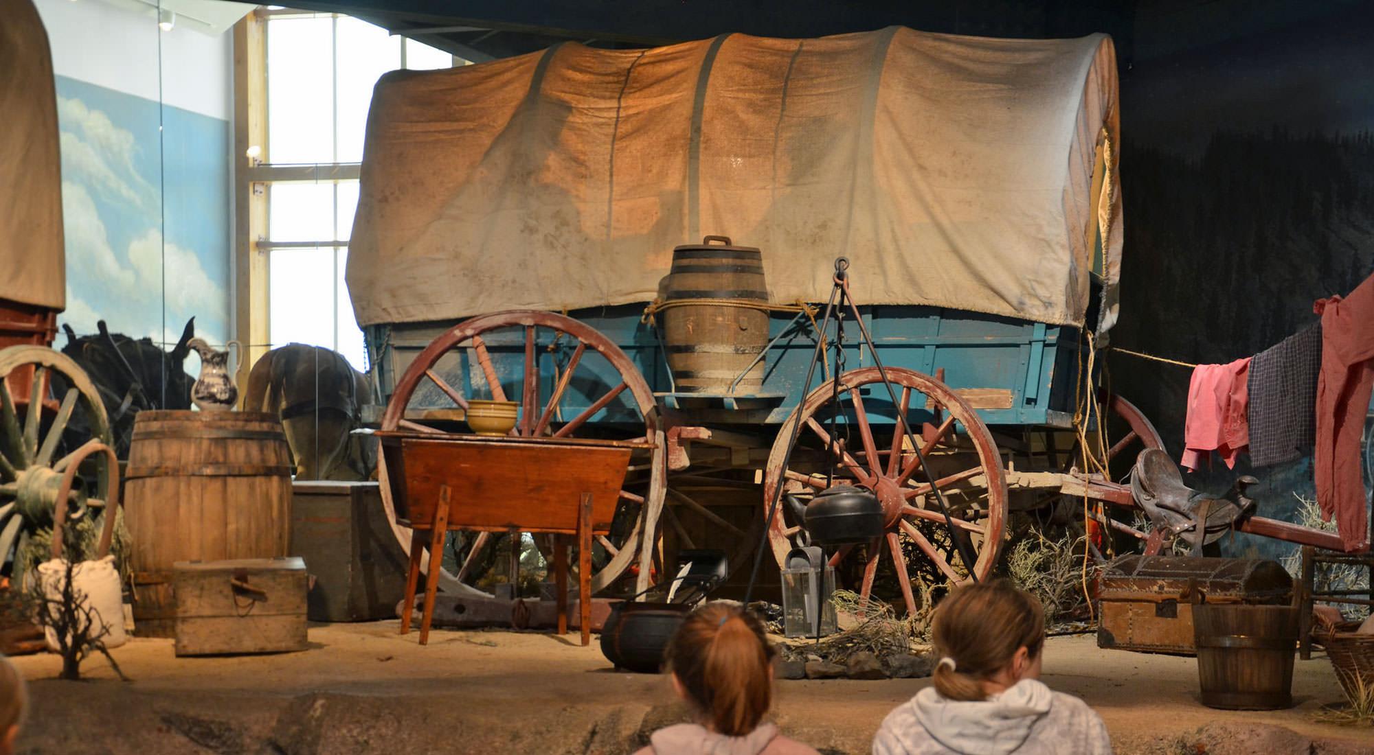 Pioneer Wagon on Display
