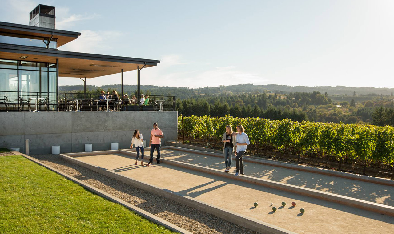 Come to Ponzi Vineyards for the award-winning wines, stay for the lawn games and more.