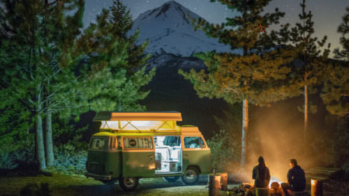Summer camping is a rite of passage in Oregon — in a tent, cabin, yurt, van, RV, airstream, teepee, treehouse or glamping-style. (Photo credit: Jarett Juarez)