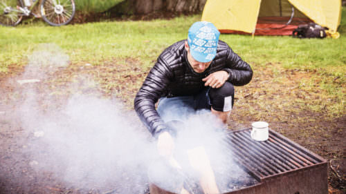 Campfires are allowed in campgrounds and established fire pits and sometimes in the backcountry.