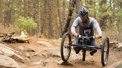 Oregon Adaptive Sports works with the Central Oregon Trail Alliance to identify the ideal dirt trails for adaptive mountain bikes. (Photo credit: Oregon Adaptive Sports)
