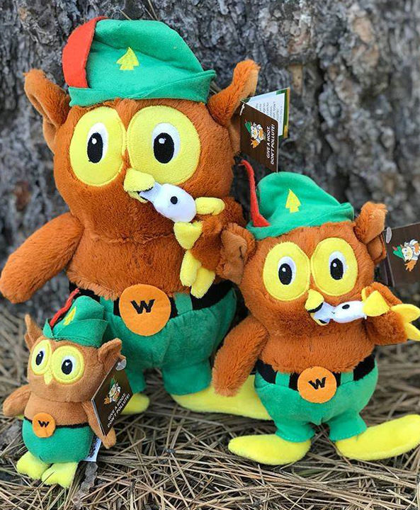 Proceeds from Woodsy Owl plush animals will benefit Discover Your Forest.