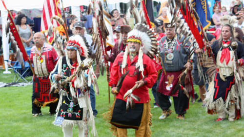 Once a year, visitors are invited to the Pauline Ricks Memorial Pow-Wow Grounds for the Nesika Illahee Pow-Wow. (Photo credit: Nesika Illahee Pow-Wow)