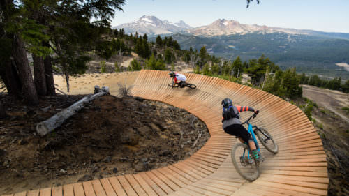 The Mt. Bachelor bike park.