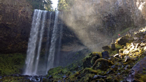 Take the shaded hike to Tamanawas Falls, with a nice mist from the waterfall at the end. (Photo credit: Nickie Bournias)