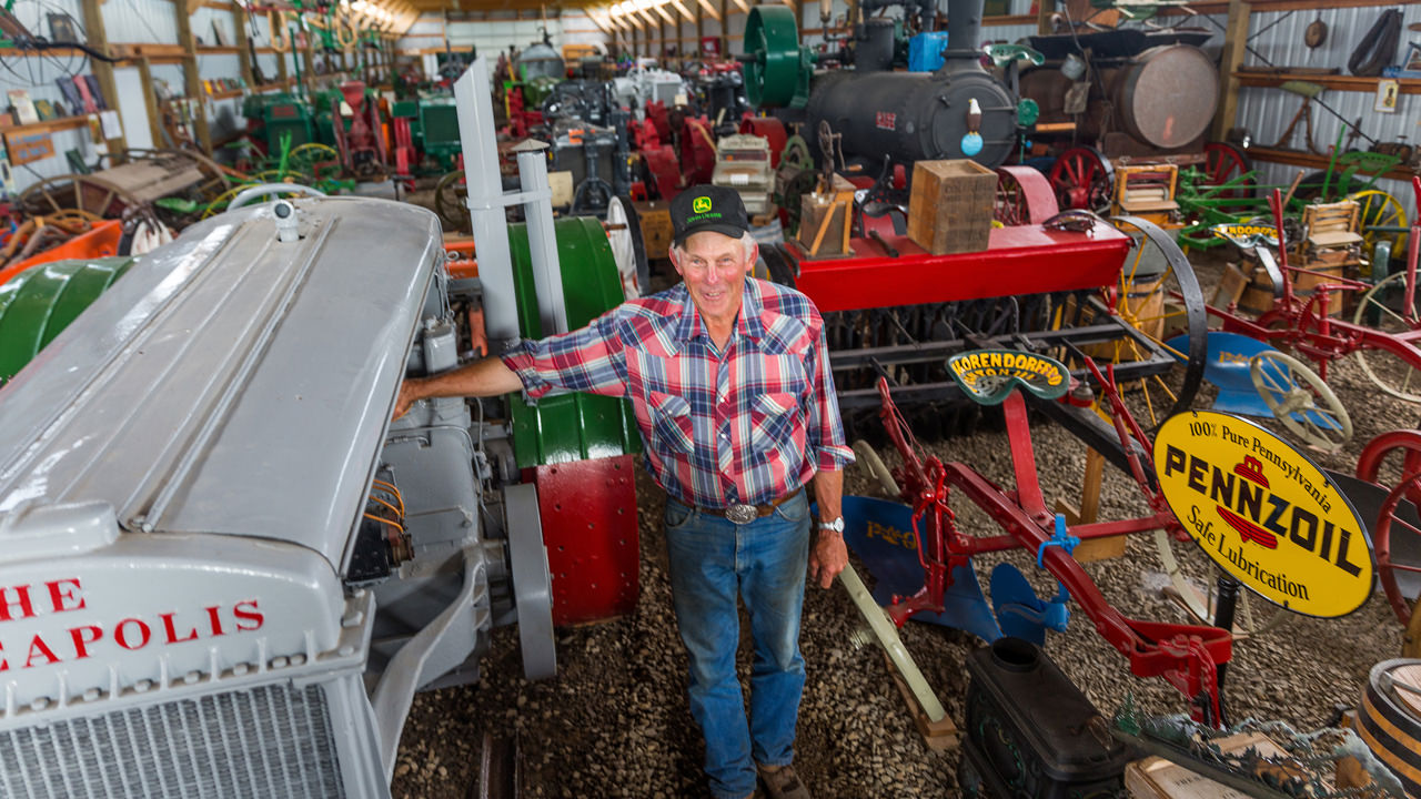 Farmer in his collection