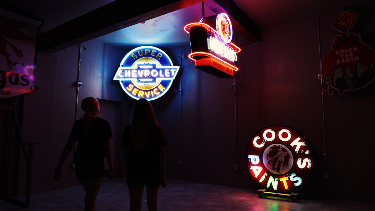 The National Neon Sign Museum Lights Up Travel Oregon