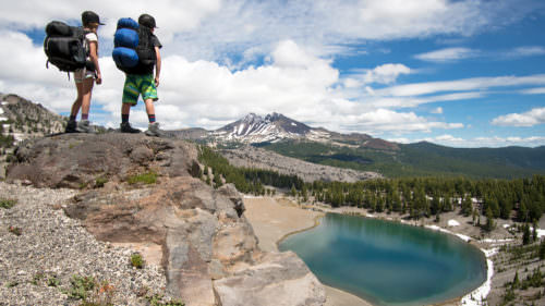 Tackle South Sister with a backpacking trip to Moraine Lake, nearly halfway up the famous mountain. (Photo credit: Pete Alport)