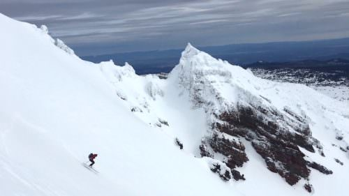 Great backcountry ski conditions. Image courtesy Pete Keane/Oregon Ski Guides