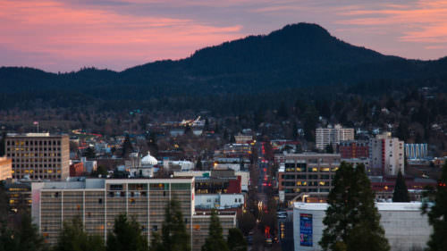 Eugene knows more than a little something about getting around on foot. After all, this is a city that's nicknamed TrackTown USA. (Photo credit: Eugene, Cascades & Coast)