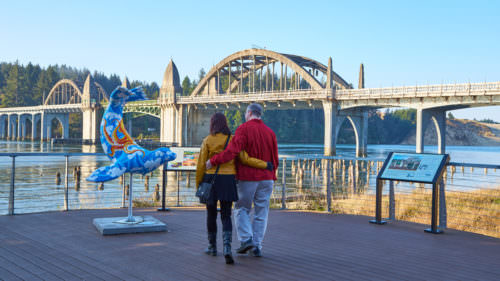 """Dancing with Sea Lions"" is a public art project in Waldport, Yachats, Florence and Reedsport. (Photo credit: Jacob Pace / Eugene, Cascades & Coast)"
