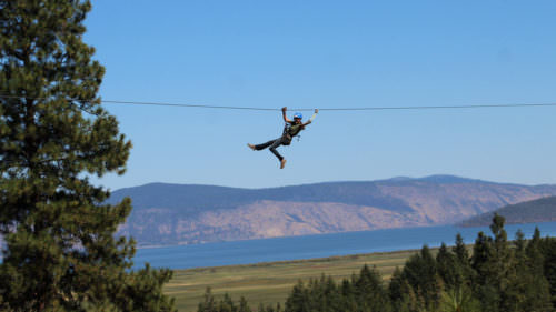 Up your adrenaline on Crater Lake ZipLine, with gorgeous views of the Klamath Basin. (Photo credit: Crater Lake Zipline)