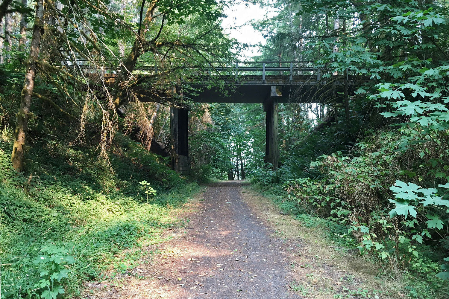 The CZ Trail runs under bridges and more.