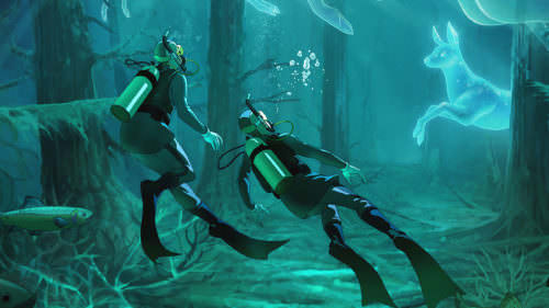 image of two divers in clear lake - 2019 Spring Campaign