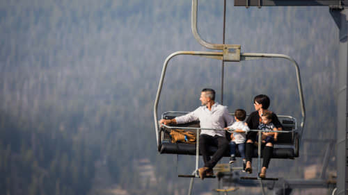 The scenic chairlift ride up the Pine Marten lift is a fun experience for the whole family. (Photo credit: Mt. Bachelor)