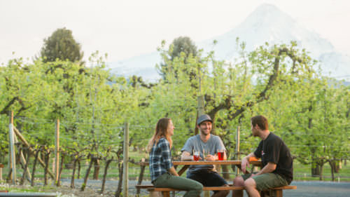 With views of Mt. Hood, the Gorge White House in Hood River is a favorite place to stop for a pint and a snack after a day of adventure on the mountain. By NashCO Photo
